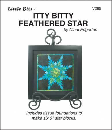 Little Bits - Itty Bitty Feathered Star by Cindi Edgerton of LIttle Bits