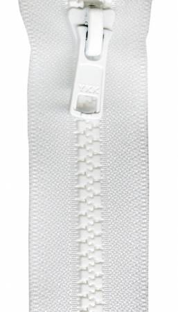Mini Vislon 10in White Separating Zipper