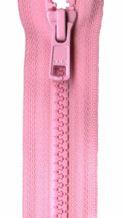 10 YKK Separating Zipper 513 Pink