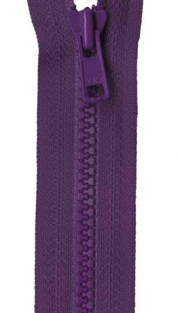 Mini Vislon 10in Purple Separating Zipper