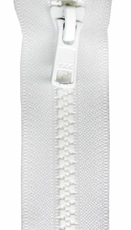 Mini Vislon 12in White Separating Zipper