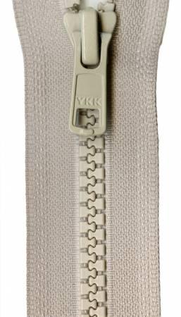 Vislon 1-Way Separating Zipper 18in Bone