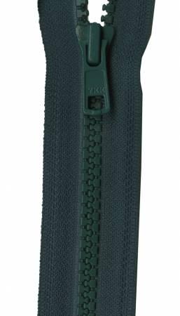 Vislon 1-Way Separating Zipper 24in Dark Green
