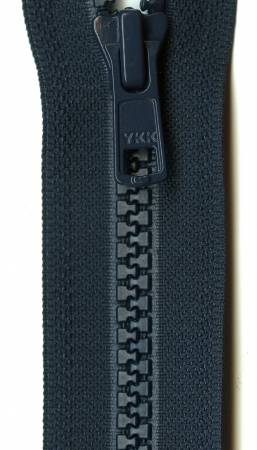 Vislon 1-Way Separating Zipper 24in Navy