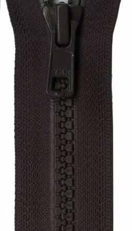 Vislon 1-Way Separating Zipper 24in Sable Brown