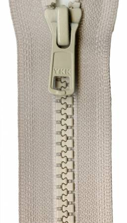Vislon 1-Way Separating Zipper 24in Bone