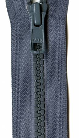 Vislon 1-Way Separating Zipper 24in Dark Gray