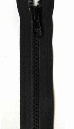Vislon 1-Way Separating Zipper 28in Black