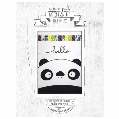 Panda Cursive Quilt Kit