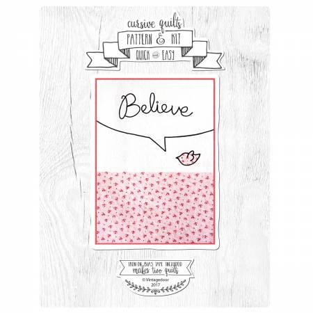 Believe Cursive Quilt