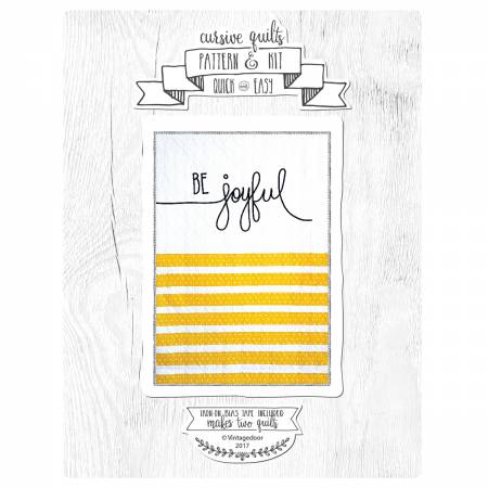 Be Joyful Cursive Quilt