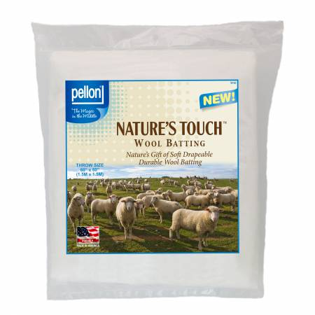 Pellon Natures Touch Wool Batting Throw-Sized 60in x 60in