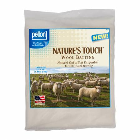 Pellon Natures Touch Wool Batting Twin-Sized 72in x 90in