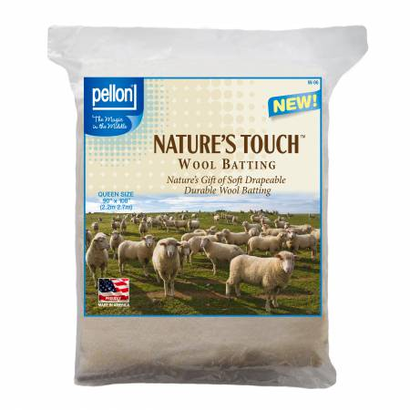 Pellon Natures Touch Wool Batting Queen-Sized 96in x 108in