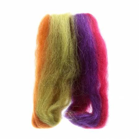 Wool Roving 12in Harvest Stripe