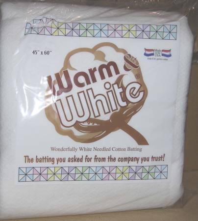 Batting Warm & White Cotton 45in x 60in