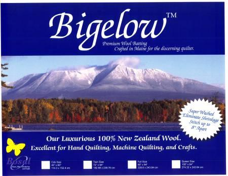Bigelow 100% Wool Batting 72in x 94in