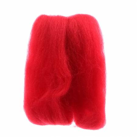 Wistyria Editions Wool Roving 12in Red