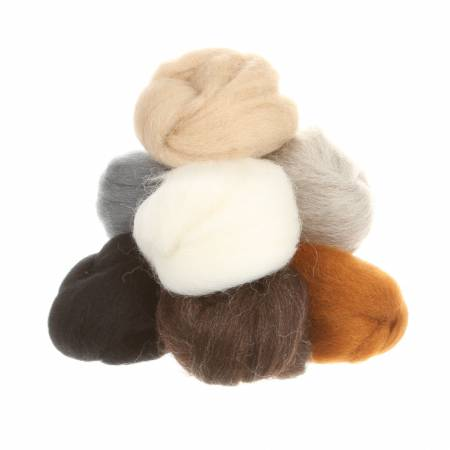 Wistyria Editions Wool Roving Assortment Furry Friends W892R