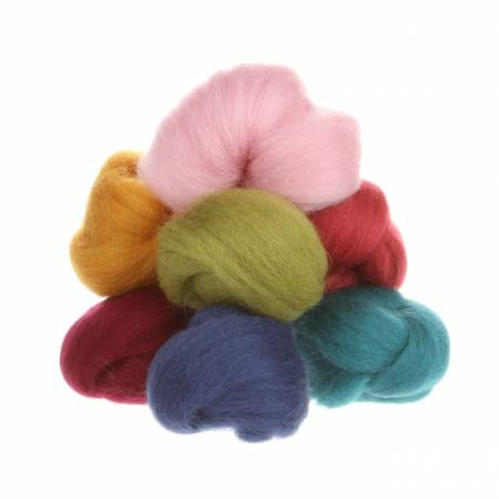 Wistyria Editions Wool Roving 8 Color Assortment Designer W899R