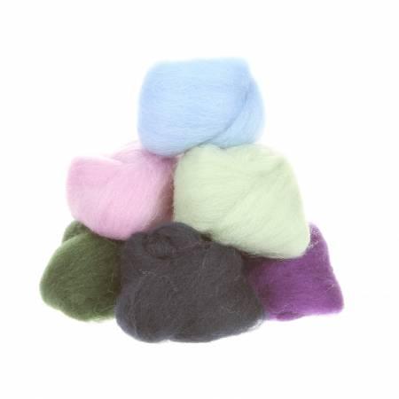 Wool Roving Assortment Hydrangeas