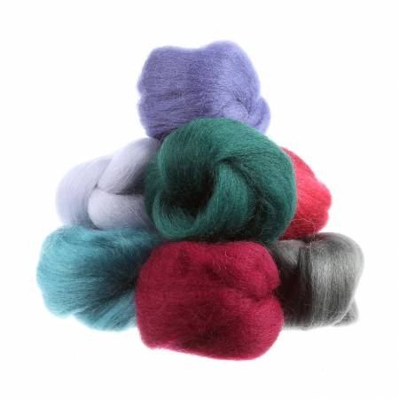 Wool Roving 8 12in pcs Vintage