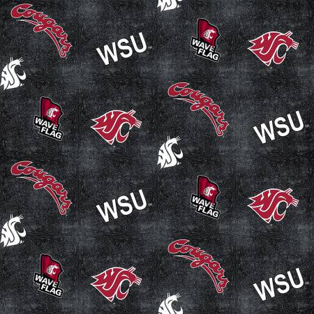 Washington State Cougar Logo on Flannel