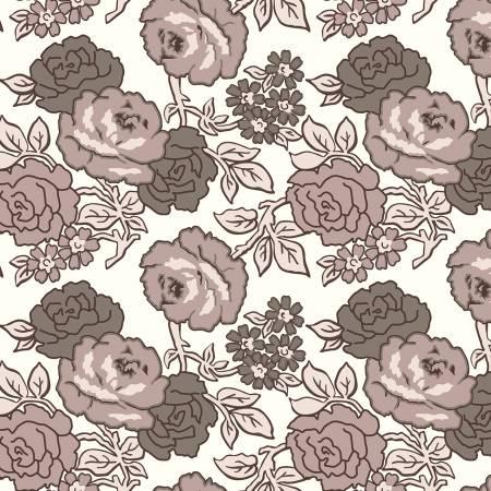 Flea Market Roses 108in Wideback Neutral