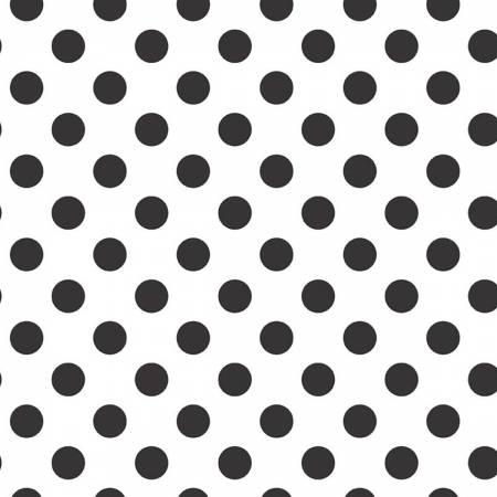 Wideback Medium Dot on White Black