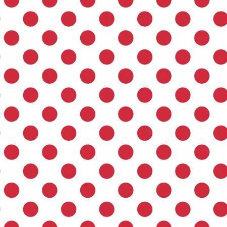 2372 Wideback Medium Red Dot on White
