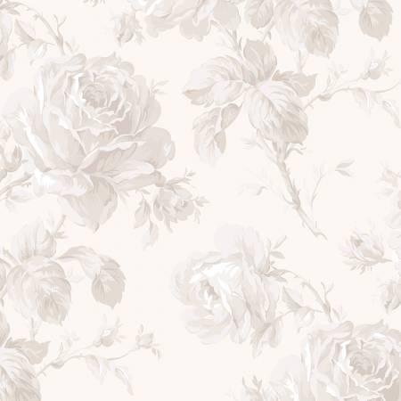 Rose Garden Floral Wideback 106/108 In Cream