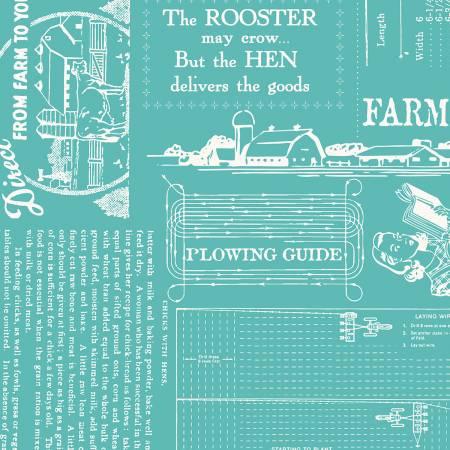 Farm Girl Vintage Cottage Blue 108 WB7887