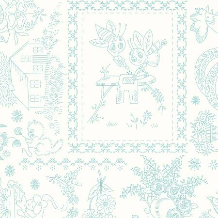 Granny Chic Vintage Embroidery Blue 108