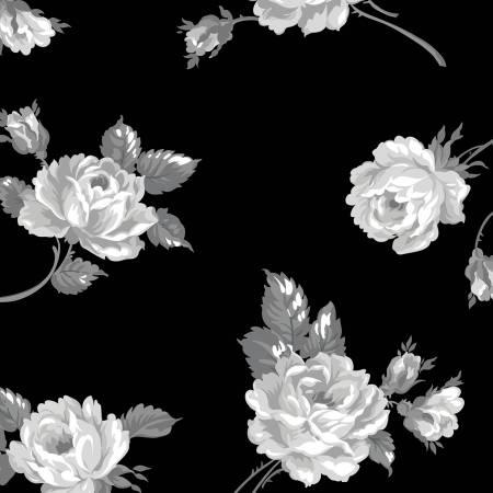 Serenity Floral Wideback 107/108 Black