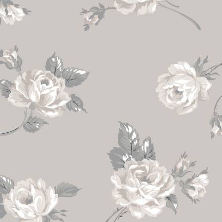 Wide Back Rose Garden Floral Taupe