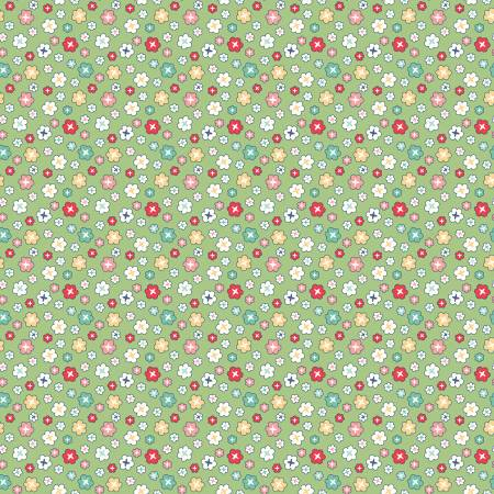 Vintage Happy 2 Blossom Green 108in Wideback