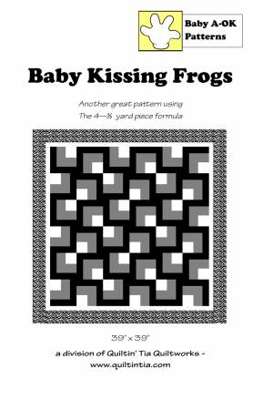 Baby Kissing Frogs quilt pattern by A-OK Patterns
