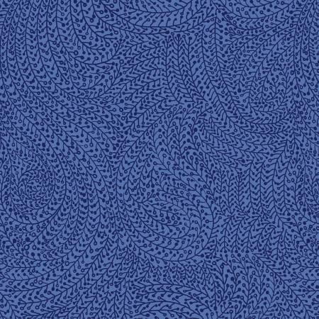 WBX6774-BLUE-D Blue Vine Maze 108 Wide Back Michael Miller