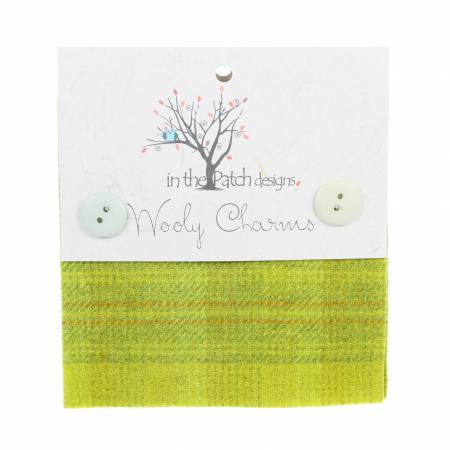 Wooly Charms 5in x 5in Yellow Green 5ct