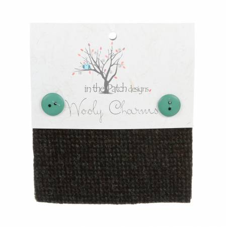Wooly Charms 5in X 5in in Black 5ct