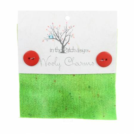 Wooly Charms 5in x 5in Chartreuse 5ct