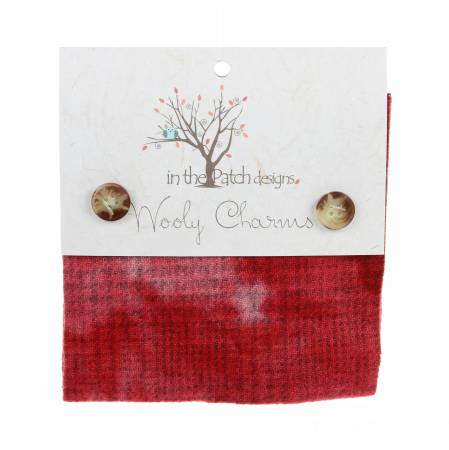 Wooly Charms 5in x 5in Red 5ct