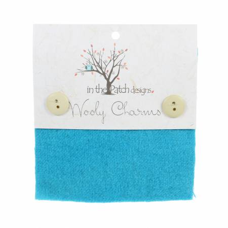 Wooly Charms 5in x 5in Robin Egg Blue 5ct