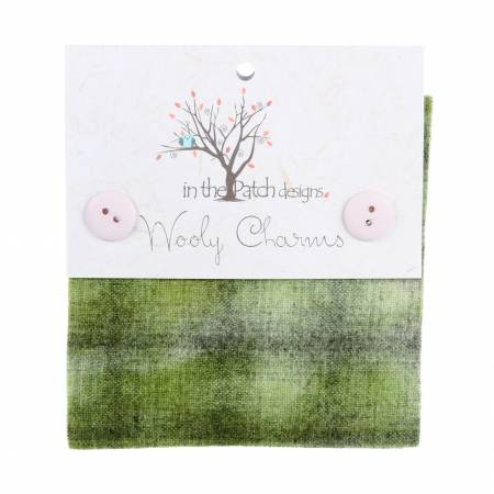 Wooly Charms 5in x 5in Olive 5ct