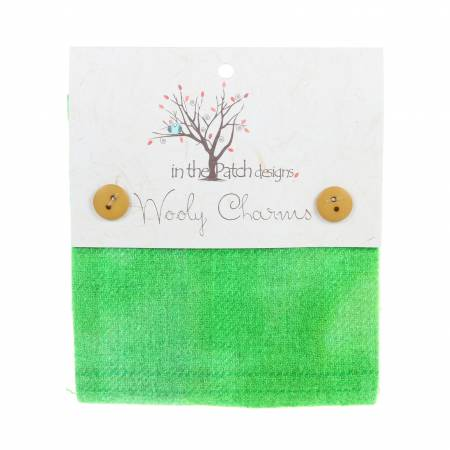 WOOL- Wooly Charms 5in x 5in Green Yellow 5ct