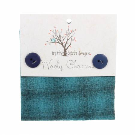 Wooly Charms 5in x 5in Teal 5ct