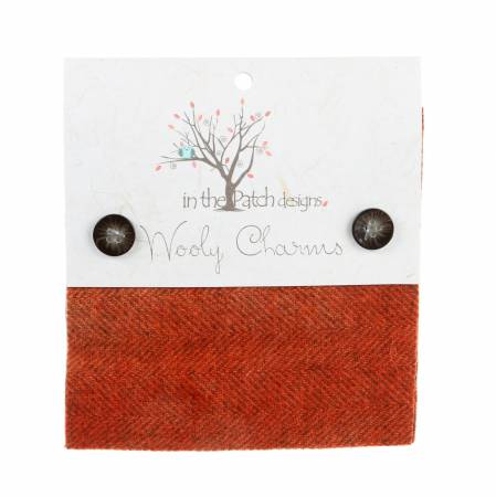 Wooly Charms 5in x 5in Deep Persimmon 5ct
