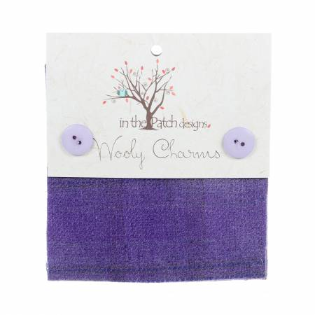 Wooly Charms 5in x 5in Lilacs 5ct