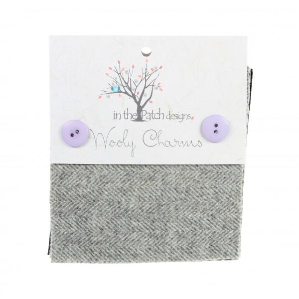 Wooly Charms 5in X 5in in Greys 5ct