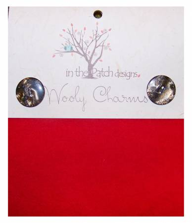 Wooly Charms 5in x 5in Christmas Red 5ct